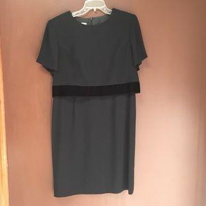 Black Short Sleeve Dress, Talbots size 12P